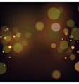 Festive background with bokeh defocused lights vector image vector image