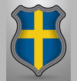 flag of sweden badge and icon vector image