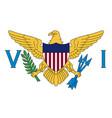 flag virgin islands united states vector image vector image