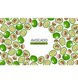 frame made from green avocado halves with round vector image