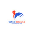 french rooster logo vector image vector image