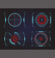 futuristic crosshair or aim radar or location vector image vector image