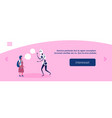 girl vs modern robot chat bubble speech vector image vector image