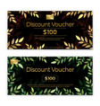 gold theme gift voucher certificate coupon for vector image vector image
