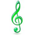 Green treble clef vector image vector image