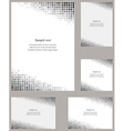 Grey circle mosaic page corner design template set vector image vector image