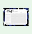 habit tracker monthly planner habit tracker blank vector image