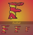Halloween decorative alphabet - F letter vector image vector image