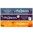 halloween sale banners seasonal cartoon pumpkin vector image