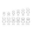 human life cycle of male from newborn vector image vector image