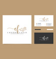 initial af feminine logo collections and business