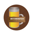 isolated oktoberfest label vector image vector image