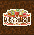 logo for cocktail bar vector image vector image