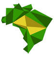 low poly style map of brazil vector image vector image