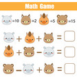 math educational game counting equations vector image
