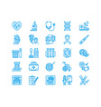 medical check up flat line icons health vector image