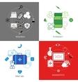 Medical Design Concept Icons Set vector image