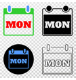 monday calendar page eps icon with contour vector image