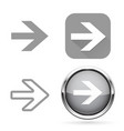next signs gray buttons and icons vector image vector image