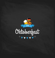 oktoberfest vintage poster or greeting card on a vector image vector image