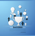 paper concept success successful business vector image vector image
