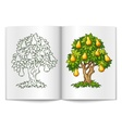 pear tree with ripe fruits on vector image vector image