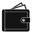 personal wallet icon simple style vector image vector image