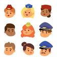 pilots and stewardess head vector image
