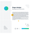 Poster design template geometric shapes gradient vector image vector image