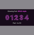 purple glowing font in the outline style vector image