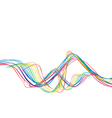 rainbow wave line vector image vector image