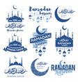 Ramadan emblems set vector image vector image