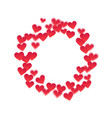 round frame of hearts vector image vector image