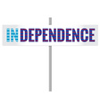 Scotland independence sign vector image