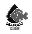 seafood or fresh fish food market isolated vector image vector image