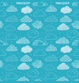 seamless background with doodle clouds on blue vector image vector image