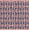 seamless ikat pattern with pink and lilac vector image vector image