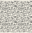 seamless textile doodle pattern grunge texture vector image vector image