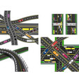 set of abstract road junction crossing of various vector image vector image