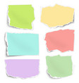 set of color paper fragments different shapes vector image vector image