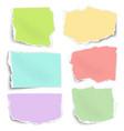 Set of color paper fragments different shapes