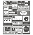 set retro or vintage labels or tags stickers vector image