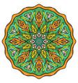 simple colorful abstract mandala vector image vector image