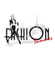 sketch fashion girls on a white background vector image