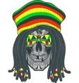 Skull Rastafarian vector image