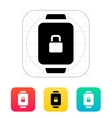 Smart watch lock protection icon vector image