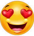 smiley emoticon feeling in love vector image vector image