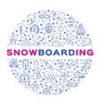 snowboarding icon outline snowboard logo vector image vector image