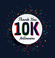social media 10000 followers success with confetti vector image vector image