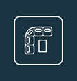 sofa icon line symbol premium quality isolated vector image